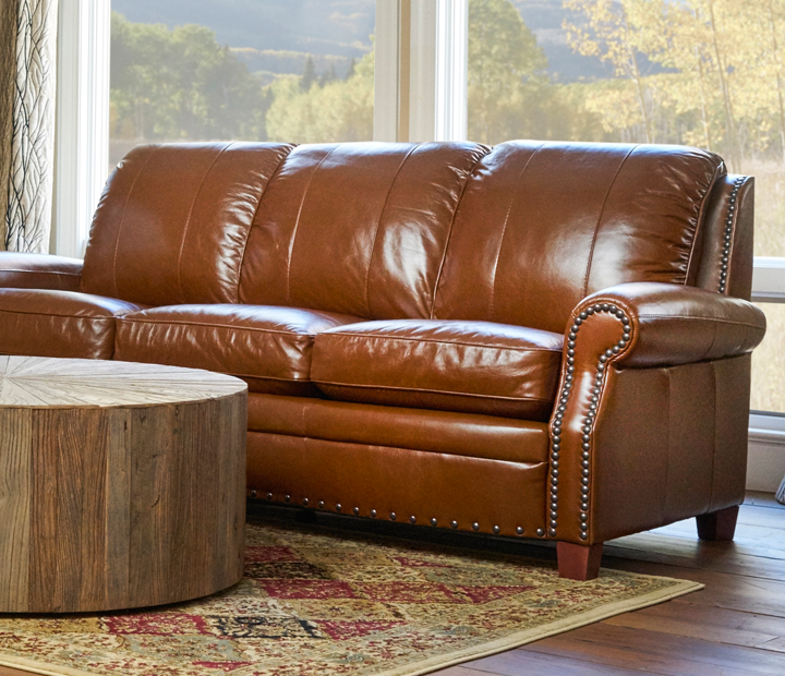 Ashton Leather Sofa by Luke Leather