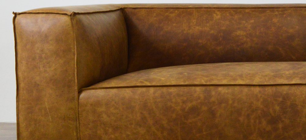 The Bonham Leather Furniture Collection, shown in Italian Brentwood Tan