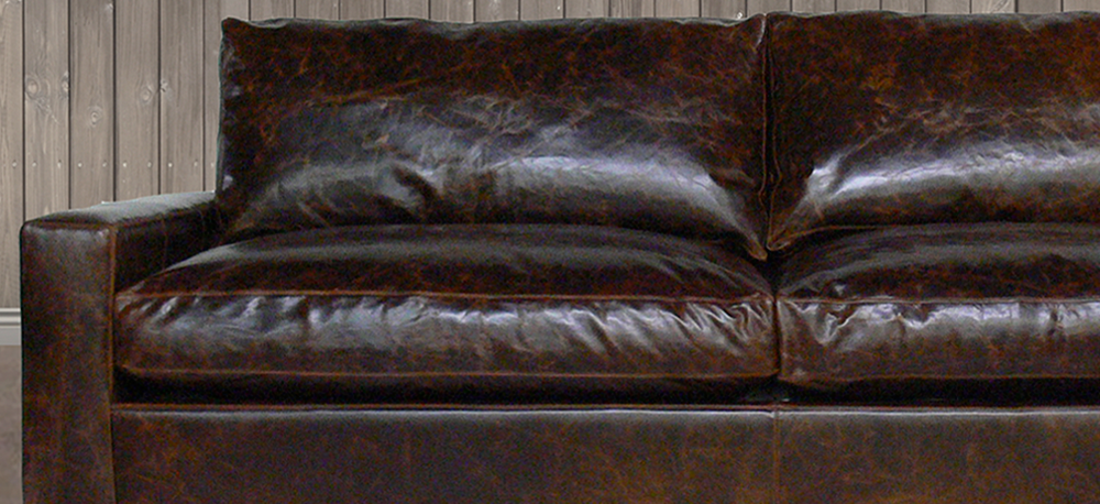 The Braxton Leather Furniture Collection in Italian Brompton Cocoa Leather