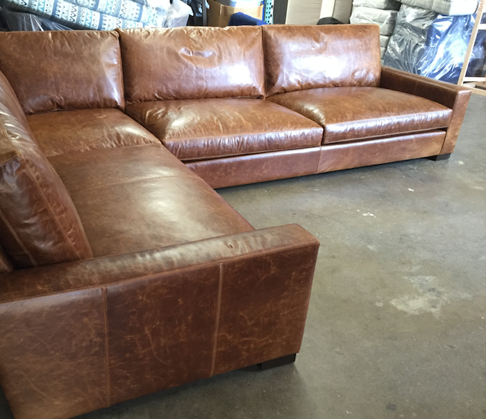 Custom Braxton L Sectional – 145″ x 105″ with Bench Seats in Italian Brompton Classic Vintage