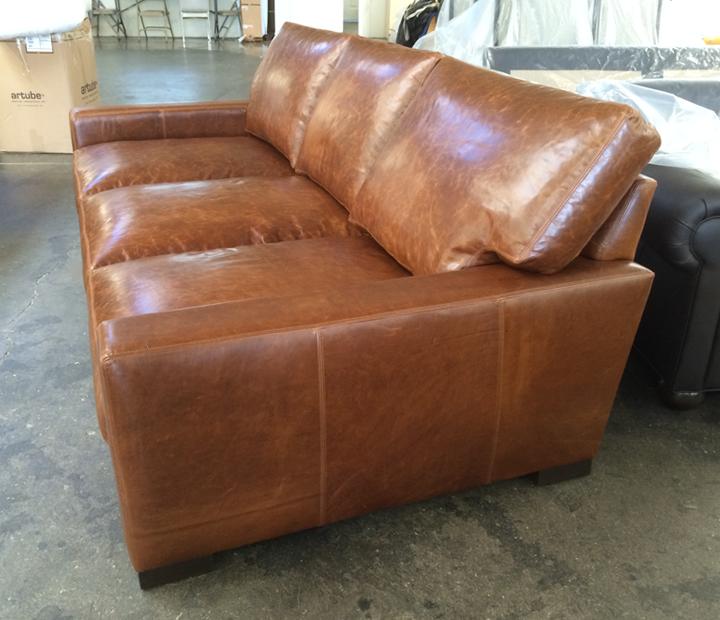 Exceptionnel Braxton Leather Sofa U2013 Custom 48 Inch Depth