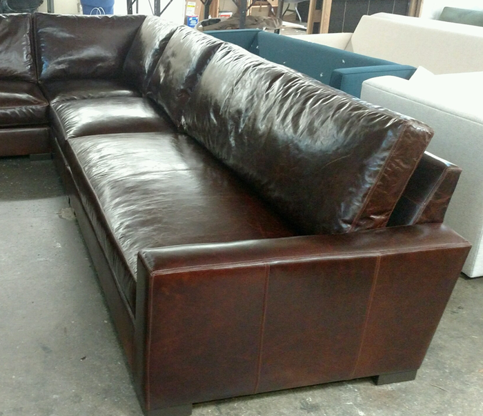 Custom Braxton L Sectional – 159 inch x 106 inch with Bench Seats in Italian Brompton Cocoa Mocha