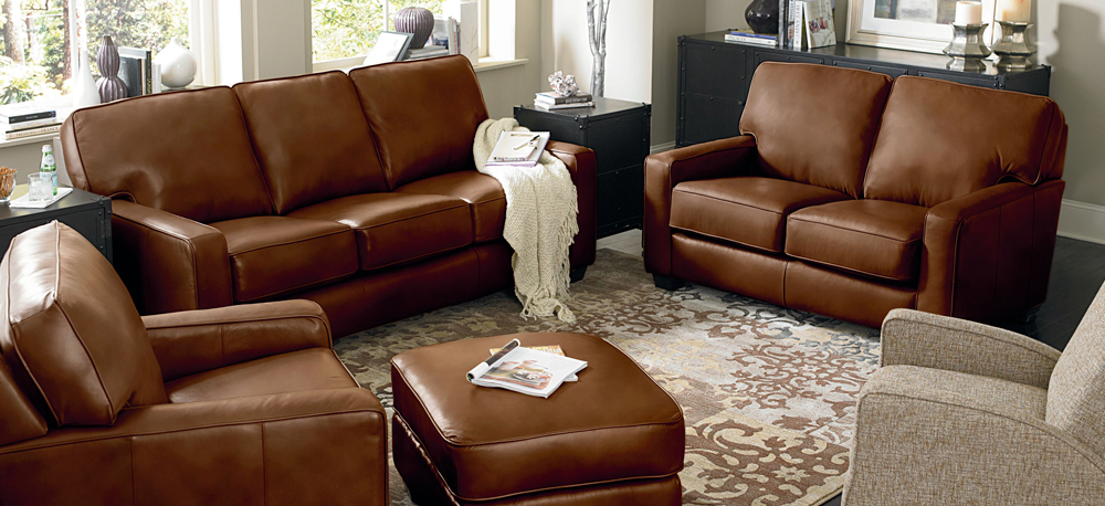 The Emerson Leather Sofa by Lane Furniture