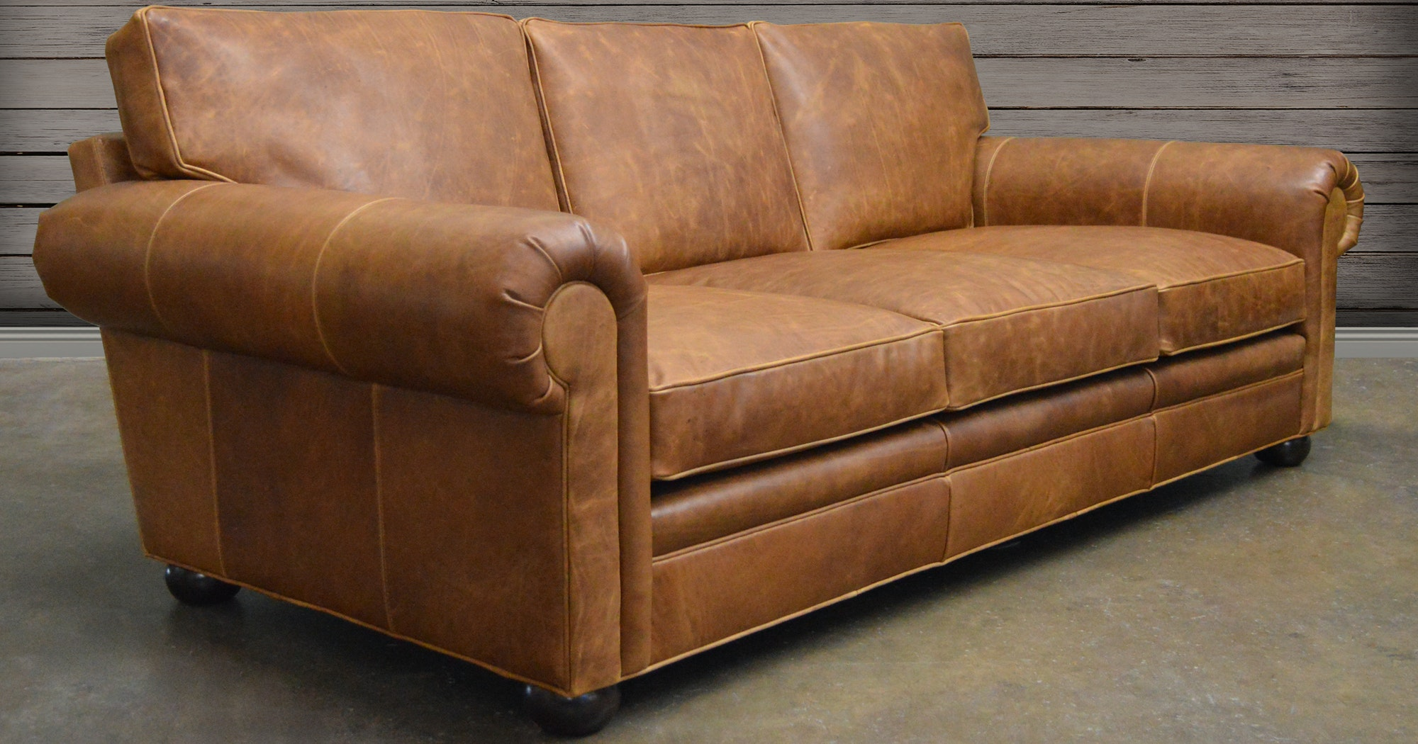 Great Langston Leather Sofa In Italian Brentwood Tan Leather