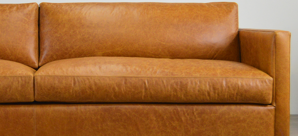 The Oscar Leather Furniture Collection in Italian Jet Buckskin Leather