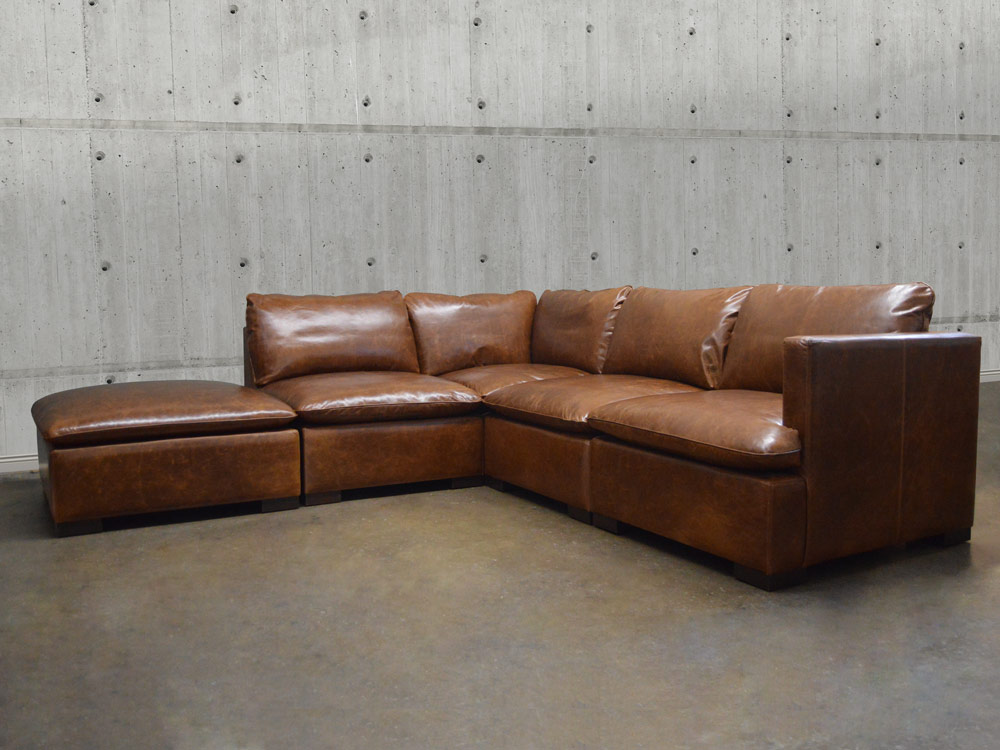 Reno Modular Leather Sectional Sofa