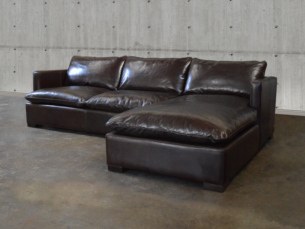 Reno Leather Sofa Chaise Sectional
