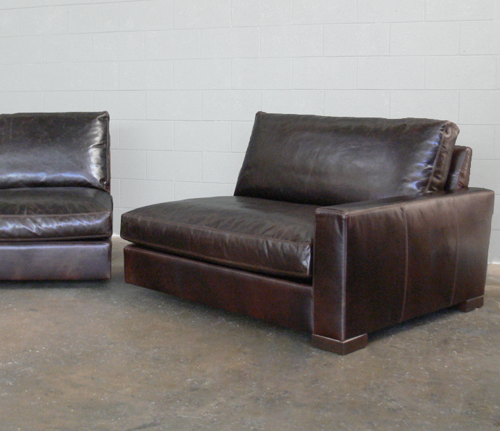We'll build you a Split Sofa, if you'd like to get a larger scale piece, and fit it into an Apartment or small space