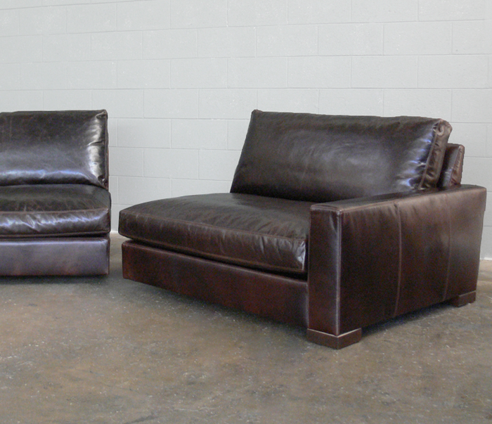 Split Braxton Leather Sofa.  Have the big leather sofa, get it in to a small place.